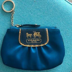 Coach keychain coin purse - teal